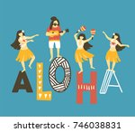 vector hawaii  illustration.... | Shutterstock .eps vector #746038831