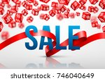 sale poster for new year... | Shutterstock .eps vector #746040649