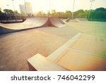 skatepark ramp | Shutterstock . vector #746042299