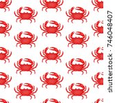 seamless pattern with flat red...