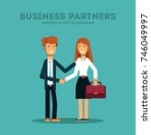 business man and woman. two... | Shutterstock .eps vector #746049997