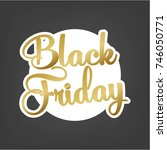 abstract vector black friday... | Shutterstock .eps vector #746050771