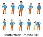 sick characters set of people... | Shutterstock . vector #746051731
