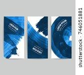set of vector business card... | Shutterstock .eps vector #746051881