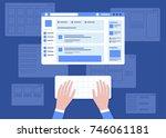 social network website... | Shutterstock .eps vector #746061181
