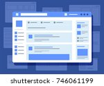 social network website... | Shutterstock .eps vector #746061199