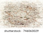 the brick wall texture with... | Shutterstock . vector #746063029