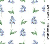watercolor seamless floral... | Shutterstock . vector #746068525