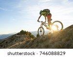 a biker feel the motion of... | Shutterstock . vector #746088829