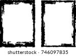 vector frames. rectangles for... | Shutterstock .eps vector #746097835