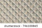 ground geometric pattern... | Shutterstock . vector #746100865