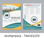 modern business two sided flyer ... | Shutterstock .eps vector #746101225