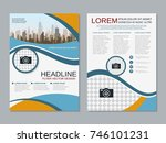 modern business two sided flyer ... | Shutterstock .eps vector #746101231