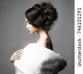 fashion studio portrait of... | Shutterstock . vector #746101291