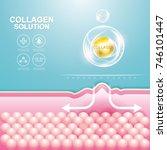 collagen solution serum drop... | Shutterstock .eps vector #746101447