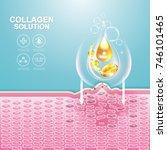 collagen solution serum drop... | Shutterstock .eps vector #746101465