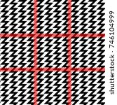zig zag print with red stripes. ... | Shutterstock .eps vector #746104999