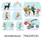 vector cartoon illustration of... | Shutterstock .eps vector #746105131