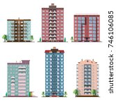 set of different panel... | Shutterstock . vector #746106085