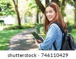 portrait of asian female... | Shutterstock . vector #746110429