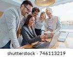 business people working... | Shutterstock . vector #746113219