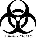 emblem   bio hazard. symmetric... | Shutterstock . vector #74611567