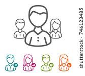 vector business people icons in ...   Shutterstock .eps vector #746123485
