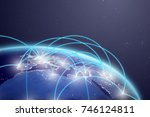 network technology. connected... | Shutterstock . vector #746124811