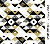 geometric pattern of abstract... | Shutterstock .eps vector #746126065