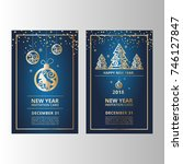 new year's banners  flyers for... | Shutterstock .eps vector #746127847