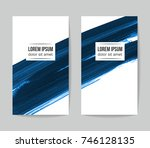 set of vector business card... | Shutterstock .eps vector #746128135