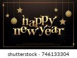happy new year typography...   Shutterstock .eps vector #746133304