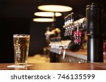 beautiful background of the bar.... | Shutterstock . vector #746135599