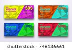 template of gift voucher with... | Shutterstock .eps vector #746136661