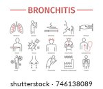 bronchitis. symptoms  treatment.... | Shutterstock . vector #746138089