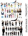 isometric people  children ...   Shutterstock .eps vector #746144197