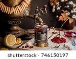 Russian Tea From Samovar  A...