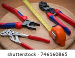 city of moscow  german tools  ...   Shutterstock . vector #746160865
