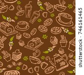 various coffee cake cupcake ...   Shutterstock .eps vector #746161465