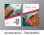 modern business brochure ... | Shutterstock .eps vector #746166841