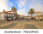 nazare  portugal   august 15 ...   Shutterstock . vector #746169421