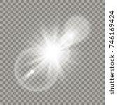 white lens flare effect.... | Shutterstock .eps vector #746169424