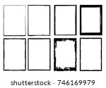 vector frames. rectangles for... | Shutterstock .eps vector #746169979