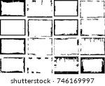 vector frames. rectangles for... | Shutterstock .eps vector #746169997
