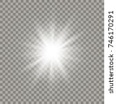 soft white shining star with... | Shutterstock .eps vector #746170291