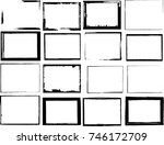 vector frames. rectangles for... | Shutterstock .eps vector #746172709