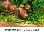 Dog Statue In Garden