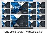 desk calendar 2018 template  ... | Shutterstock .eps vector #746181145