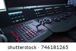 telecine control machine for... | Shutterstock . vector #746181265