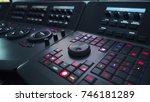 telecine control machine for... | Shutterstock . vector #746181289